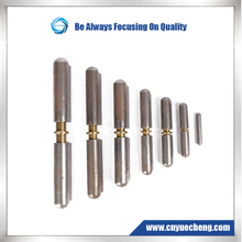 Weld on Bullet Hinges----Steel body , brass pin , brass bushing